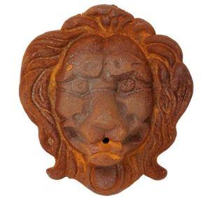 Lion tête Murale décoration Fer Sculpture Fountain