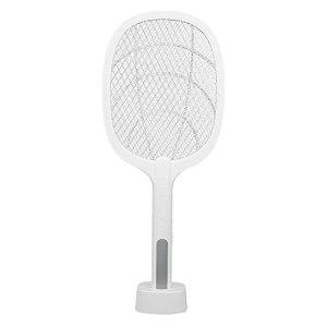 LIUTT Tapette à moustiques électrique -Portable 2 en 1 Tapette à moustiques électrique Équipement de Destruction de moustiques Blanc Chargement USB