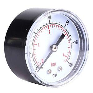 Manomètre de connexion arrière, manomètre d'air, 50 mm pour air eau huile gaz(0-60psi 0-4bar)