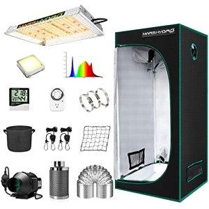 MARS HYDRO Kit complet de culture TS600W – Lampe de culture LED – 60 x 60 cm – Kit complet pour tente de culture d'intérieur