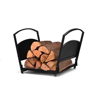 Mind Reader LOGH-BLK Foyer à bois de chauffage pour intérieur et extérieur 17 cm