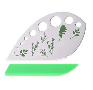Pince à décaper pour herbes aromatiques 9 trous en acier inoxydable