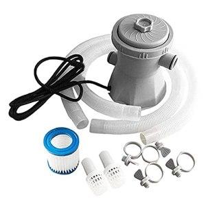 Pompe à filtre de piscine électrique, filtre Set de piscine extérieure Kits de pompe de piscine nageante portable extérieure pour piscines hors