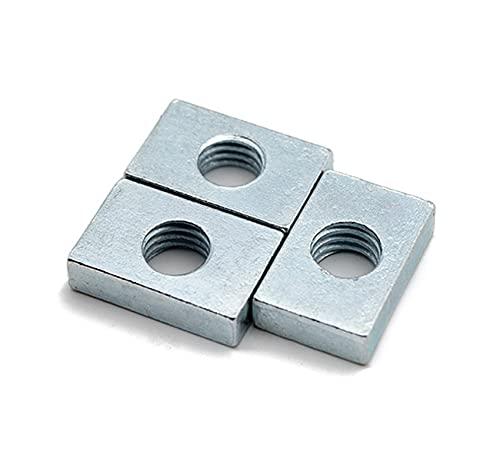 PZZZHF 100 pcs M3 M4 M5 M6 M8 Noix de Noix de Profil en Aluminium Noix rectangulaires GB39 Bloc de Curseur Accessoire Mince Noix fraisée en Acier au Carbone (Size : M4x6x8x2)