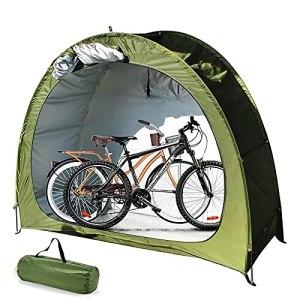 QLIGHA Housse de Tente de vélo, abri de Rangement de vélo, tentes étanches extérieures Portables abri de vélo pour Magasin 2 vélos ou Tricycle ou Outils de Jardinage