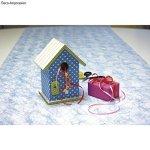 Rayher 62291000 boîte nichoir en bois FSC Mix Credit 2 pcs, 12,5x10x17cm, nature
