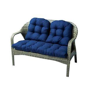 Redcolourful Lot de 3 coussins de chaise, coussins de canapé épais pour décoration d'intérieur et d'extérieur Bleu marine