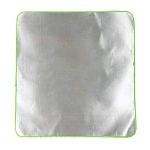 Seii Plafond De Protection en Aluminium,Tapis De Grill Tapis De Protection De Sol Résistant À La Chaleur 1mx1m Portable