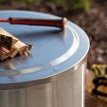 Solo Couvercle Bonfire en acier inoxydable 304 pour foyer extérieur et accessoires de camping