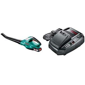 Souffleur sans Fil Bosch – ALB 18 Li (1 Batterie 18 V 2,5 Ah, 210 Km/h) Vert & Chargeur Rapide AL 1830 CV pour Batterie Lithium-ION, AL 1830 CV Accessoires pour Outils sans-Fil 14,4V / 18V