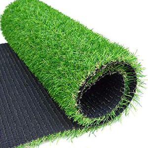Synthétique Gazon Artificiel D'herbe,haute Densité Fausse Pelouse Plein Air Gazon D'animal Familier Avec Trous De Drainage Pour Patio Terrasses Non-slip Tapis De Gazon-vert 100x1000cm(39x394inch)