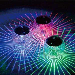 Uonlytech Lumière flottante solaire, lumière solaire de piscine de boule magique de changement de couleur, lumière solaire de bassin pour l'étang de piscine