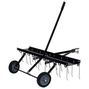 vidaXL Scarificateur pour Tondeuse Autoportée Déchaumeuse de Pelouse Tracteur à Gazon Tracteur de Pelouse Râteau à Gazon Jardin Extérieur 100 cm