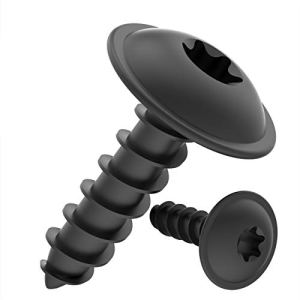 Vis à Tôle TORX tête bombée plate avec rondelle galvanisé noir: 3,9 x 22 mm, 10 pièces