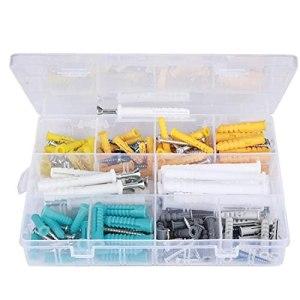 Vis Ancrages Set Auto Tapping en plastique côtelé Bouchons de cloisons sèches Kit de convainement Kit de fixation 200pcs Fixation Matériel