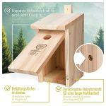 wildtier herz I Nichoir Oiseaux Exterieur pour Ménagère Charbonnière & Co. – Maison Oiseaux, Nichoir Mésange en Bois – Trou d'Entrée de 32mm