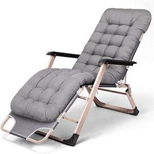 WOGQX Chaises Longues Zero Gravity, Chaise Longue De Bureau Simple, Chaise Longue Extérieure Chaise Pliante avec Coussin De Coton Amovible, pour Patio Garden Beach Pool