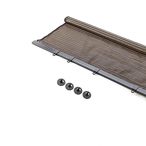 XYUfly20 Stores Enrouleurs De Fenêtre Pare-Soleil Rideau Isolant sans Perforation pour Balcon Rideau De Porte Portable Et Léger Perforé Facile À Utiliser (Color : Brown, Taille : 60×141cm)
