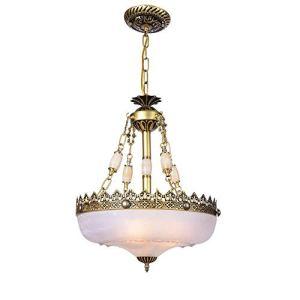 YEXINTMF Lustre Verre Rustique luminaires Plafond Suspendu au Milieu du siècle Moderne Pendentif éclairage for Salle à Manger Foyer Chambre Salon (Size : M)