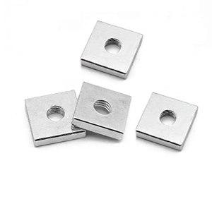 YGGFA 200pcs GB39 DIN 562 Noix carrée Mince M3 M4 M5 M6 Bloc de quadrilatère en Acier au Carbone Compatible avec Prusa MK3 Zingué galvanisé plaqué (Size : M3x5.5×2)