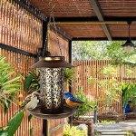 Yousiju Solaire alimenté à Oiseaux d'oiseau Lumineux imperméable Vintage Suspendu extérieure de la Lampe Solaire de la Forme Sensible Sensible Capteur contrôle de Jardin Solaire