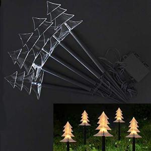 ZCC Luminaires d'extérieur en Canne à Bonbons, 5/10 pièces, éclairage décoratif de Jardin, éclairage pour noël et Nouvel an, éclairage pour noël, noël (5pcs Light)