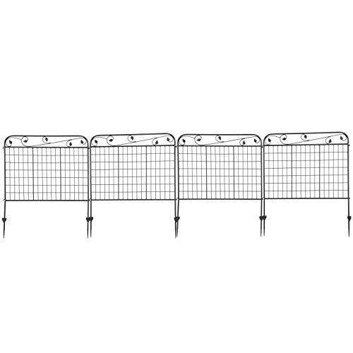 Zwinner Clôture de Bord, clôture de Jardin de kit de clôture, antirouille de Jardin pour Animal de Chien
