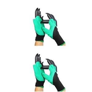 2 pair Gants Garden Genie avec griffes, gants de jardin avec griffes imperméables, gants de jardinage faciles à creuser et à planter des gants de jardin, gants de travail avec 8 griffes Meilleur