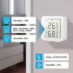 Capteur d'humidité de température sans Fil, détecteur de thermomètre d'hygromètre de capteur d'humidité de température de Surveillance de Basse Tension pour Le Bureau pour Maison