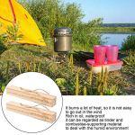 Cyrank 2pcs Bois de Chauffage de Camping pin, Bois de Chauffage de pin résistant à l'eau pour l'éclairage des Fours de Pique-Nique de Camping BBC