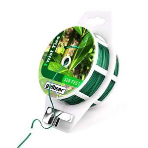 getbear Enrouleur de câble torsadé pour Jardin, câble de Serrage Vert avec Cutter pour Le Jardinage, Les Plantes, Les Arbres, Les Fleurs et l'organisation de Bureau 100 m Green-1