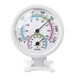 HARZELN Thermomètre hygromètre intérieur ou extérieur – Mini thermomètre de bureau de 7,6 cm, thermomètre sans fil pour table, cuisine, voiture, serre