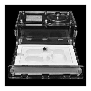 HCKLYTN Nichoir en verre acrylique plat pour fourmis – Atelier écologique – Pour fourmis – Avec zone d'alimentation – 10,5 x 13 x 6 cm