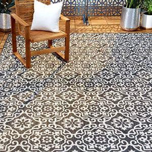 Home Dynamix Patio Country Danica Area Rug, 9'2″x12'5″, Black/Gray