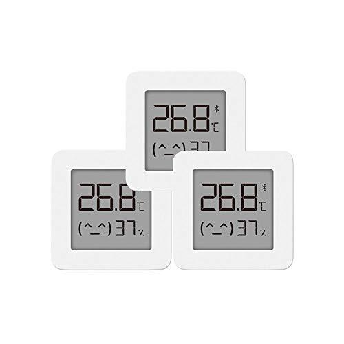 Hongtianyuan pour mijia Thermomètre D'intérieur Hygromètre, Bluetooth Capteur D'humidité de la Température avec écran LCD – Affichage à Distance sur Mi Home APP (3 Pack)