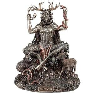 JIUDELE Statues Cernunnos en résine – Statue de dieu celtique – Pour décoration de maison ou de jardin