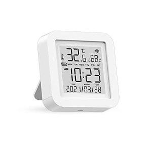 K-Park Thermomètre D'ambiance, Thermomètre Numérique D'intérieur Et Hygromètre Moniteur Précis Thermomètre D'humidité De La Température Ambiante avec Écran D'affichage HD pour Serre Effectual