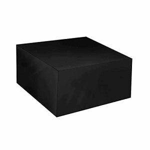 KUAIE Bâche Couverture Étanche Oxford Polyester Housse de Mobilier D'extérieur Coupe-Vent pour Sofa, Tableau, Noir, Housse De Gril, 28 Tailles (Color : Noir, Size : 100x50x50cm)