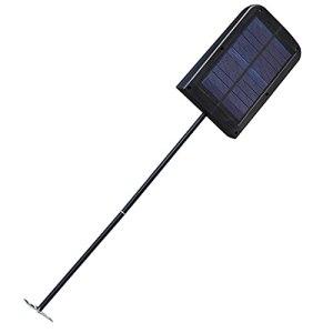 Lumières solaires extérieures Ménage extérieur dirigé par le corps humain induction imperméable de jardin solaire lampe lumineuse lampe électrique lampe de rue Décor de jardin (Size : Black)