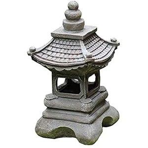Ornement De Jardin De Pagode Japonaise Maison De Jardin Zen Extérieur à Lumière Solaire Patio Terrasse Art De Jardin De Porche Ou Décor De Pelouse