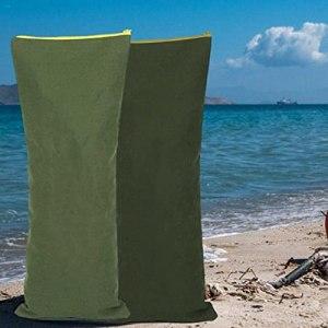 Sacs de sable contre les inondations,1/5/10/20 PCS Sacs de sable de contrôle des inondations Sac de sable épaissi Sac de sable de barrière contre les inondations avec fermeture à glissière(sans sable)