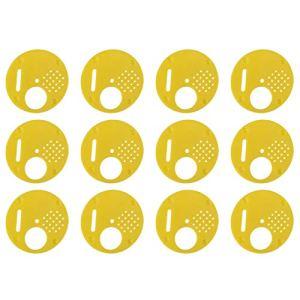 Shoplice Bee Nuc Box Bee Box Entrée de Ruches 12 pièces/Ensemble en Plastique Beehive Nuc Box Portes d'entrée Équipement d'apiculture