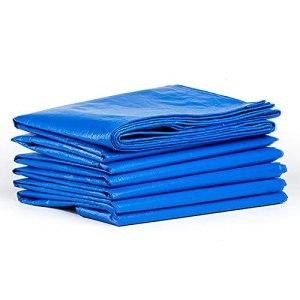 SKTYEE Bâche de Recouvrement Bâches de Couverture PE avec œillets Imperméable et Résistante, Bache Garden Piscine Camping Jardin Bleu Baches (Size : 8×10FT(2.4×3M))