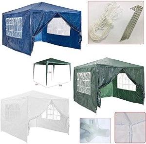 Tente de Gazebo de Jardin 3x3m, abri extérieur de Tente de chapiteau d'auvent, pour l'événement extérieur de fête de Mariage, imperméable, Acier Enduit de Poudre