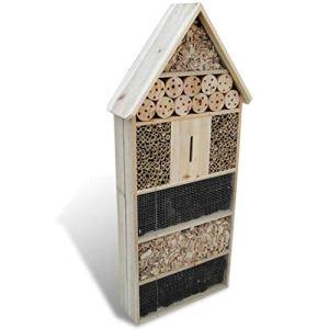 vidaXL Hôtel à insectes XXL 50 x 15 x 100 cm en bois Maison abri pour insectes