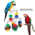 Weikeya en sécurité Animaux Jouet, Qualité Bois Matériel Bonheur Oiseau Jouets avec Plastique pour Longue Temps Utilisation