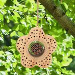 WILDLIFE FRIEND I Hôtel Avantageux – Abri pour Insectes Bénéfiques en Bois, Hôtel à Insectes pour la Lutte naturelle contre les Parasites (Fleur)