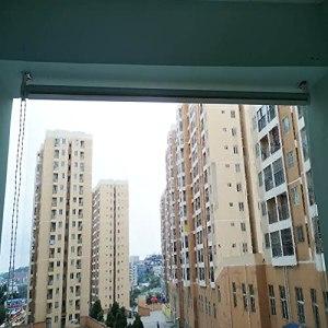 WXQIANG Tonnelle transparente avec fixations – 100 % étanche – En PVC – 130/140/150/160/170/200/250 cm – Pour intérieur/balcon/hôpital – Décoration d'intérieur