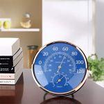 YUTRD ZCJUX Grand Thermomètre Rond Hygromètre Humidité Humidité Monitor Moniteur