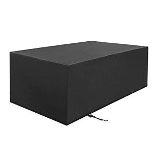 ZWYSL Patio Housse de Meuble de Jardin Tissu Imperméable pour Ensemble Chaise et Table Housses de Salon de Jardin Cube, 28 Tailles, Personnalisable (Color : Noir, Size : 110×110×85cm)